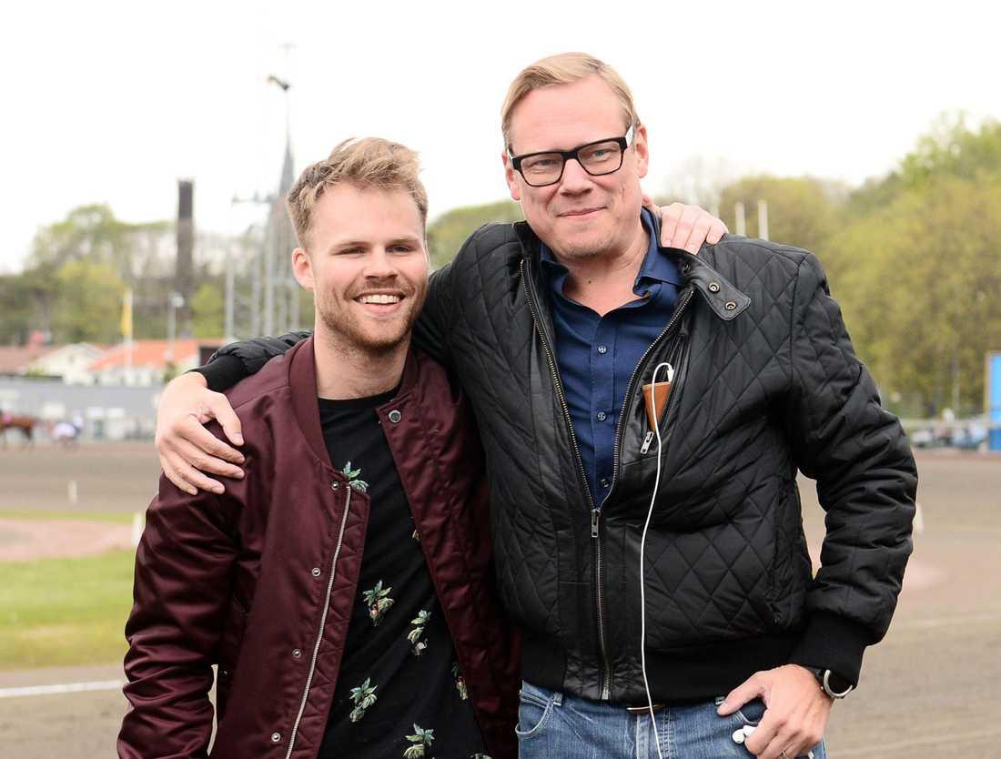Anders Ström (till höger) tillsammans med Adrian Kolgjini.