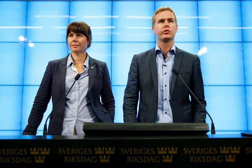 MP:s språkrör Gustav Fridolin och Åsa Romson.
