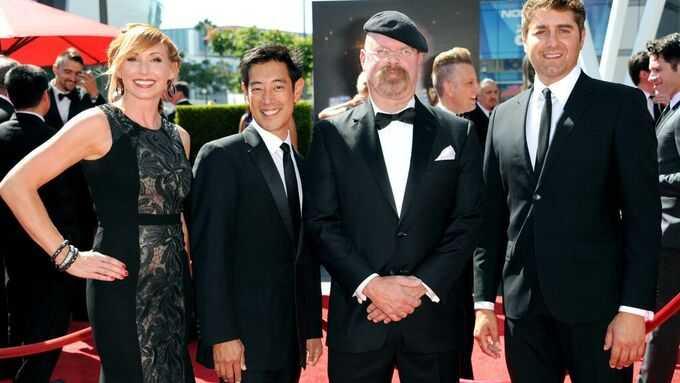 Grant Imahara, andra från vänster, tillsammans med sina kollegor i Mythbusters