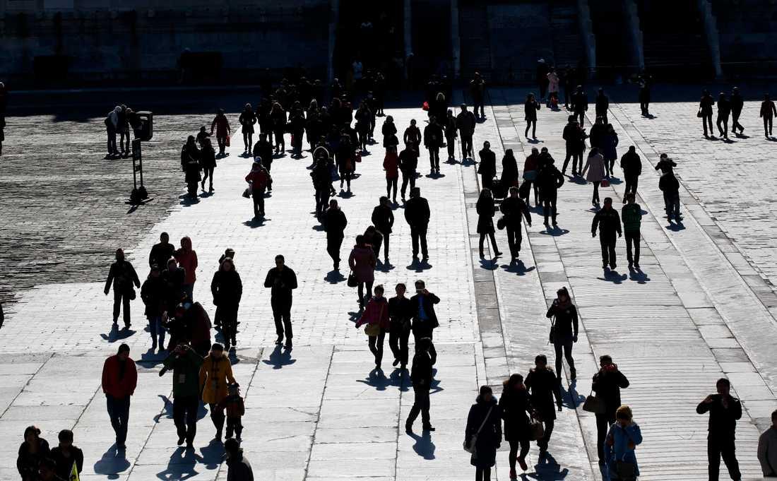 Personer i Peking, Kina.