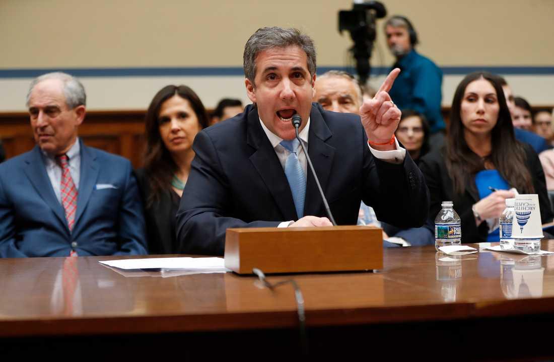 Michael Cohen i onsdagens utskottsförhör.