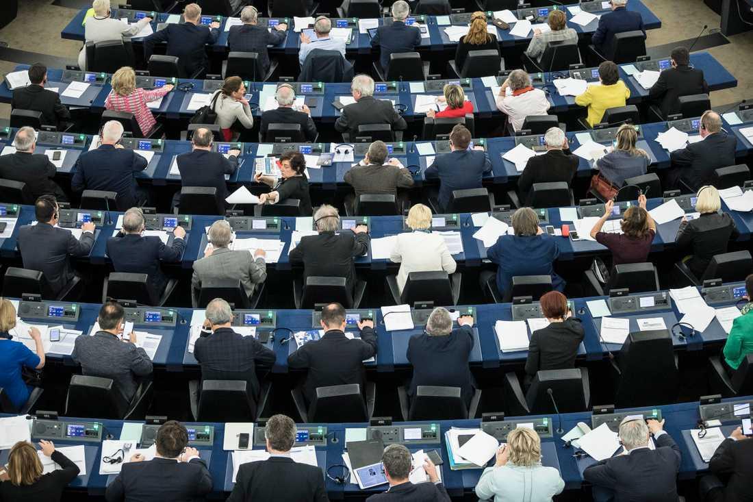 EU-parlamentet delar sin tid mellan Bryssel och Strasbourg. Arkivfoto.