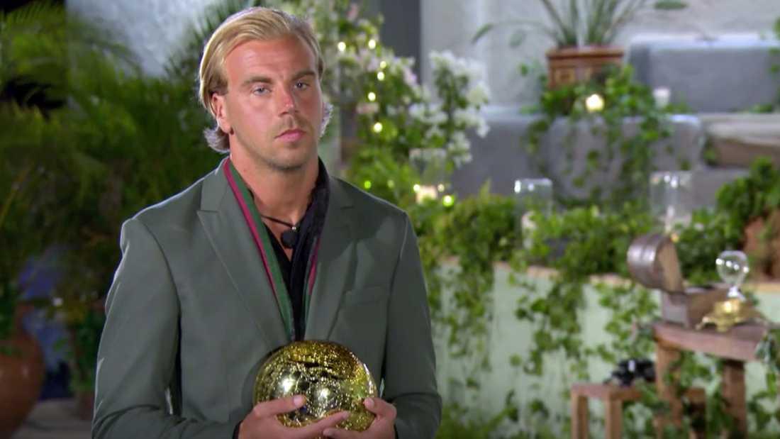 """Robert """"Mos"""" Andersson vann """"Paradise hotel"""" för andra gången."""