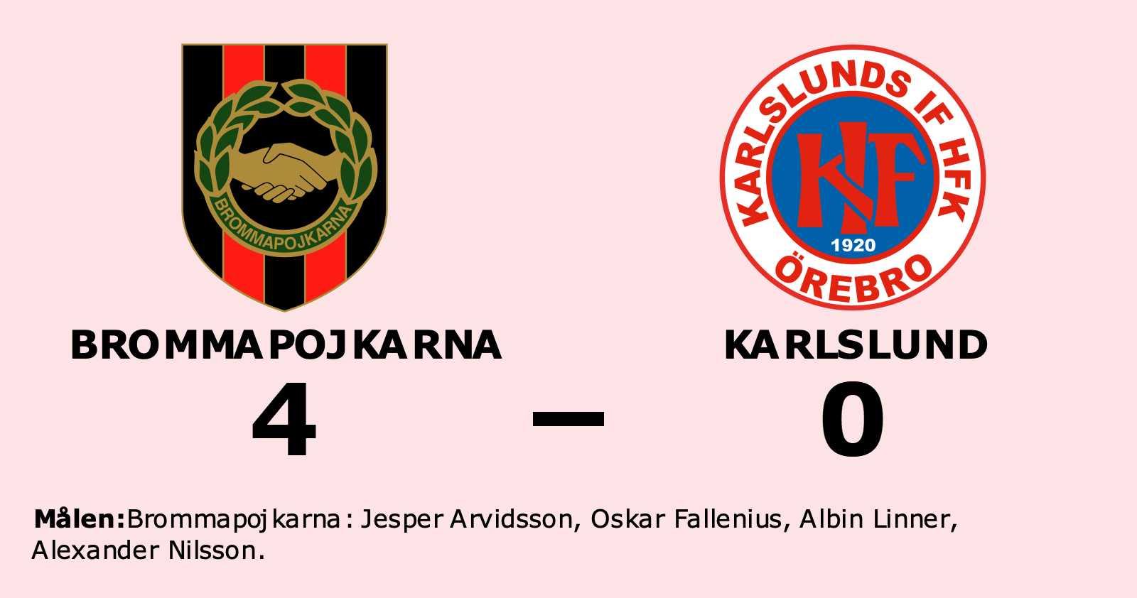 Klar seger för Brommapojkarna mot Karlslund på Grimsta IP