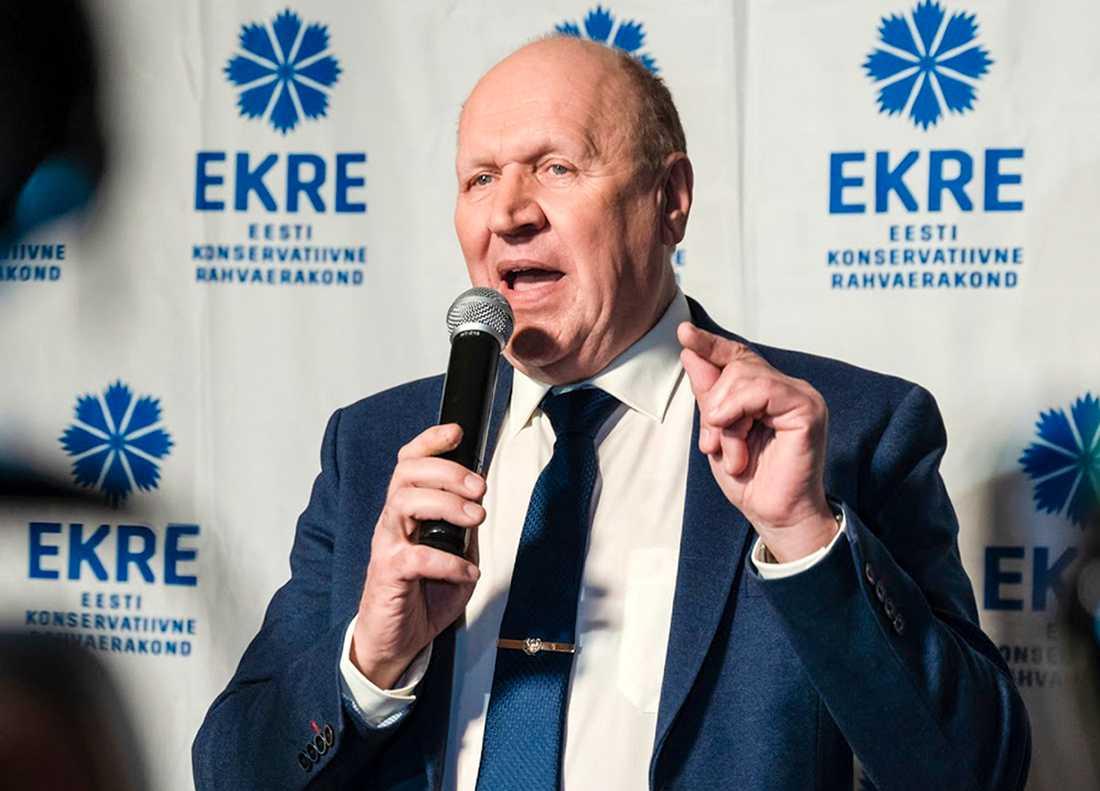 """Estlands nationalistiske inrikesminister Mart Helme tycker att landets homosexuella kan """"sticka till Sverige"""". Arkivbild."""
