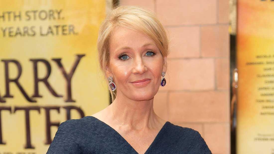 JK Rowling, som skrivit Harry Potter-böckerna.