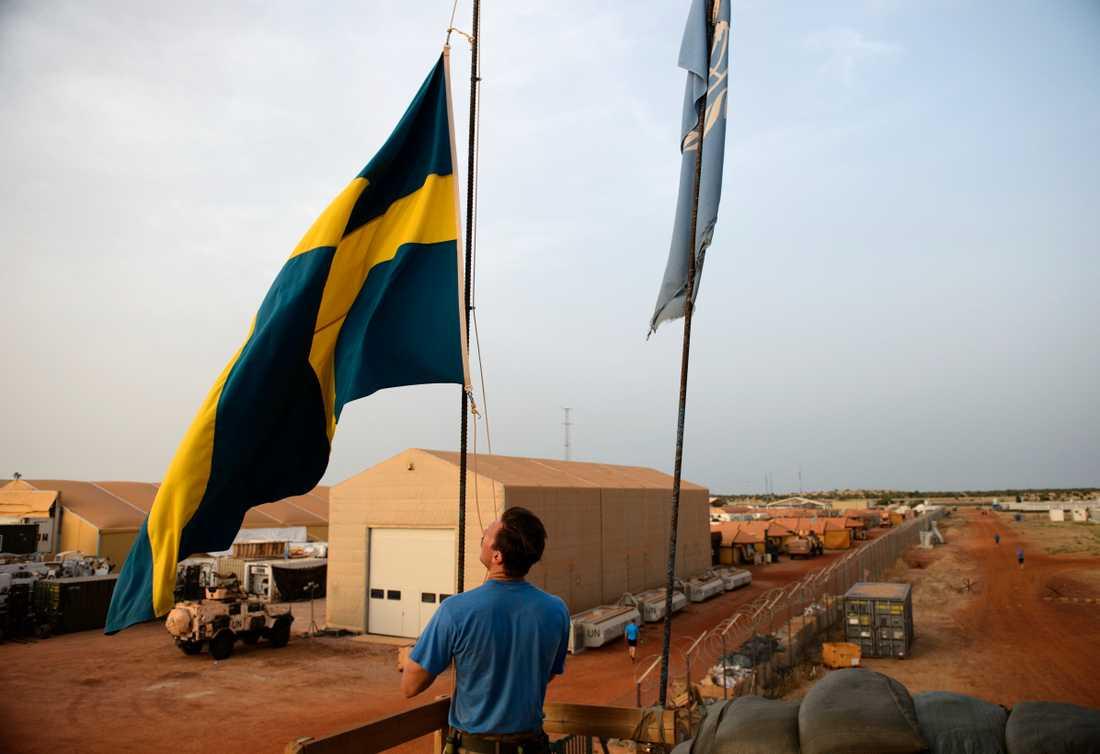 Hittills har svenska soldater i Mali framför allt varit stationerade vid Camp Nobel i Timbuktu. Arkivbild.