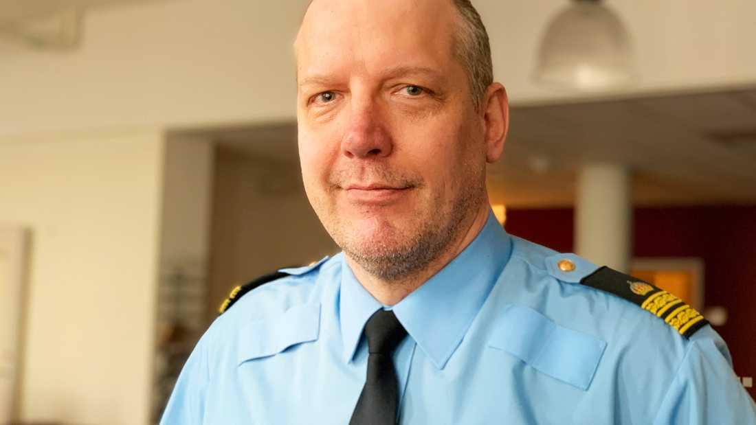 Jonas Eronen, polisens presstalesperson.