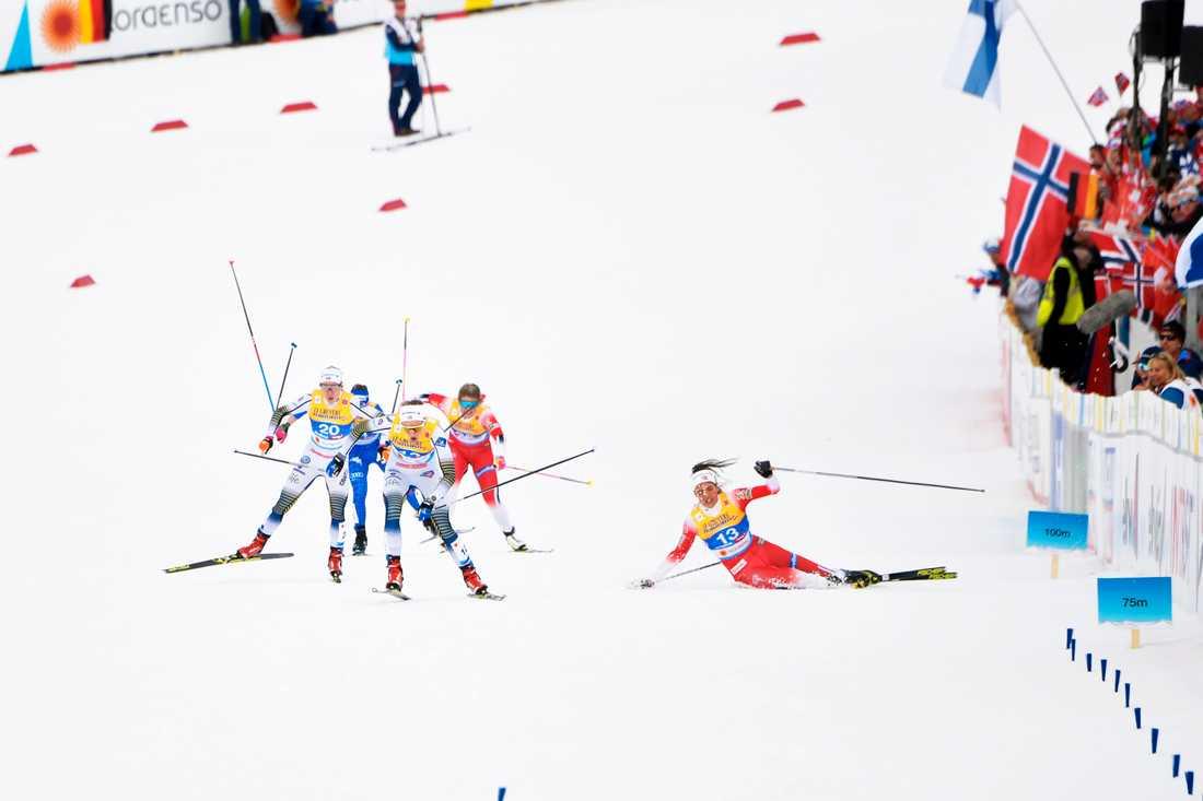 Kristin Stavås Skistad  föll på upploppet
