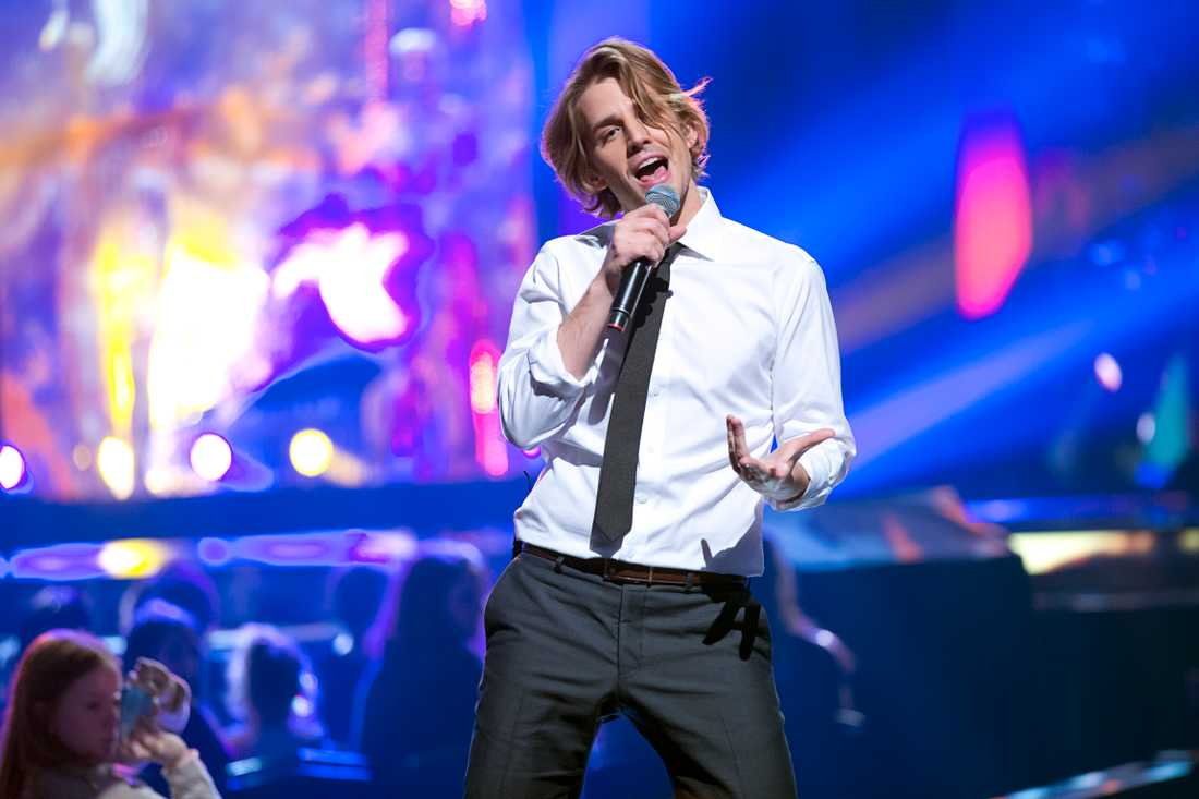 Martin i Melodifestivalen 2013.