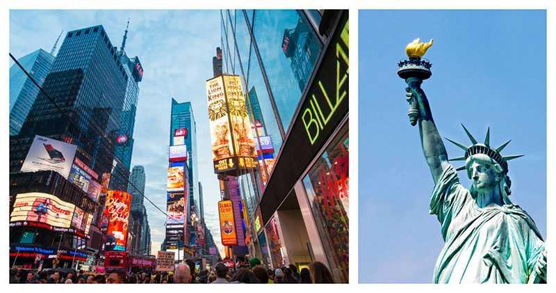 Hänga på Broadway eller besöka frihetsgudinnan på Staten Island?