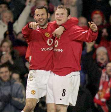 Giggs och Rooney.