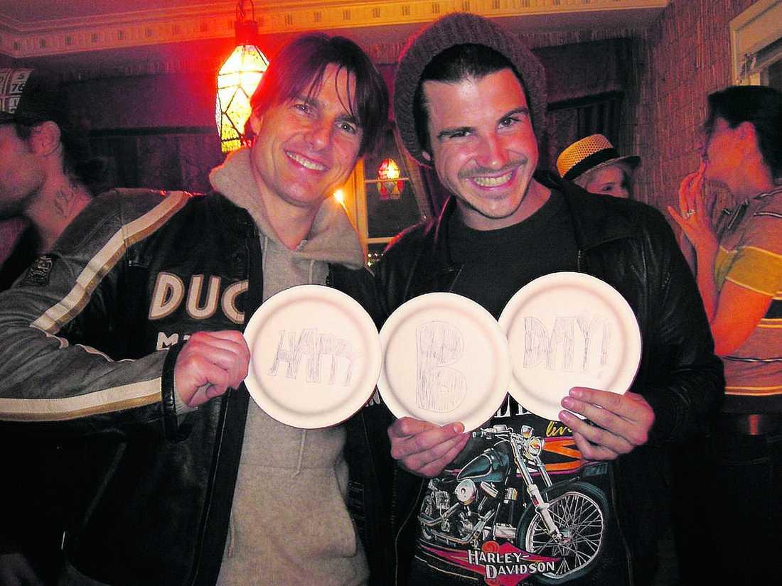 """BILDBEVISET Henrik Lundström, som bland annat är känd från filmen """"Ondskan"""", träffade Tom Cruise på en fest hos den svenska filmstjärnan Malin Åkerman."""