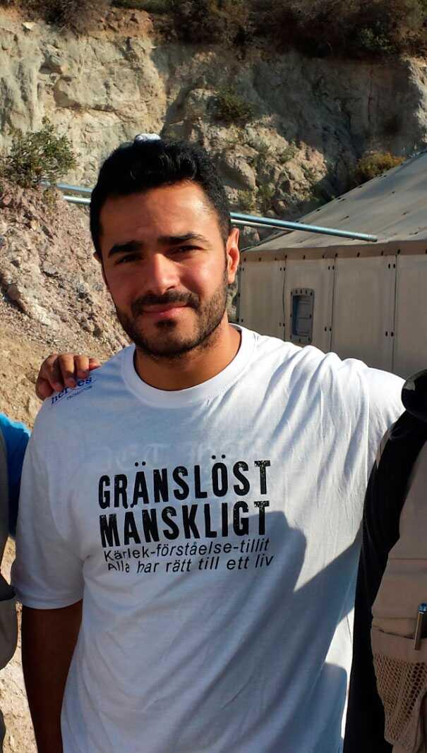 Volontärarbetaren Mohammed Mouaid.
