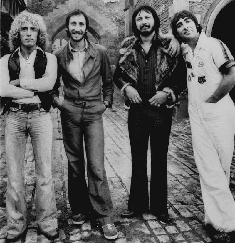 The Who - på 70-talet Roger Daltrey, Pete Townshend, John Entwistle och Keith Moon.