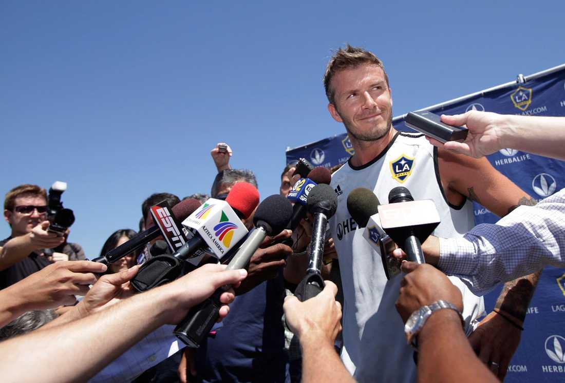 Tillbaka med Los Angeles Galaxy i juli 2009 –och den precis alla vill prata med.