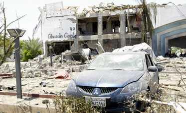 Ghazala Gardens var ett av hotellen som drabbades värst.