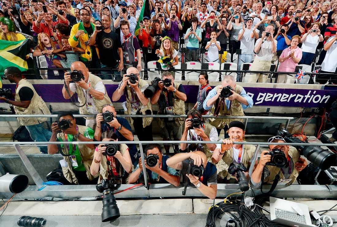 Usain Bolt har fångat kameraägaren Jimmy Wixtrömpå bild många gånger efter fantastiska mästerskapslopp.