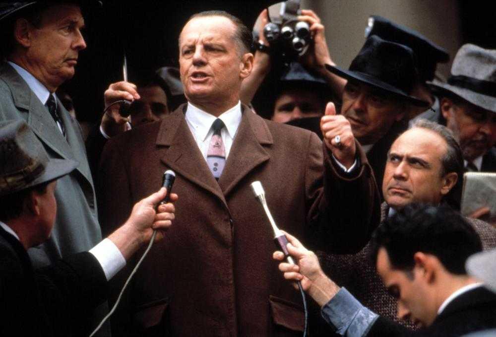"""Jack Nicholson i """"Hoffa""""."""