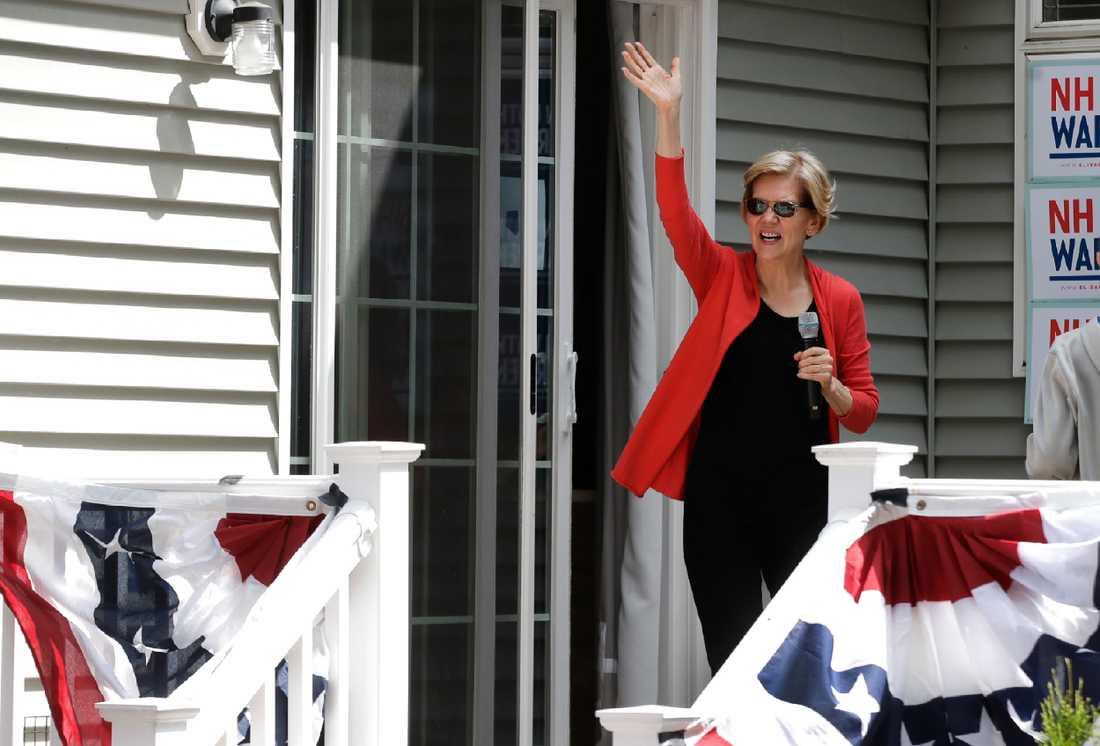 Den demokratiska presidentaspiranten och Massachusettssenatorn Elizabeth Warren kampanjar i primärvalsstaten New Hampshire.