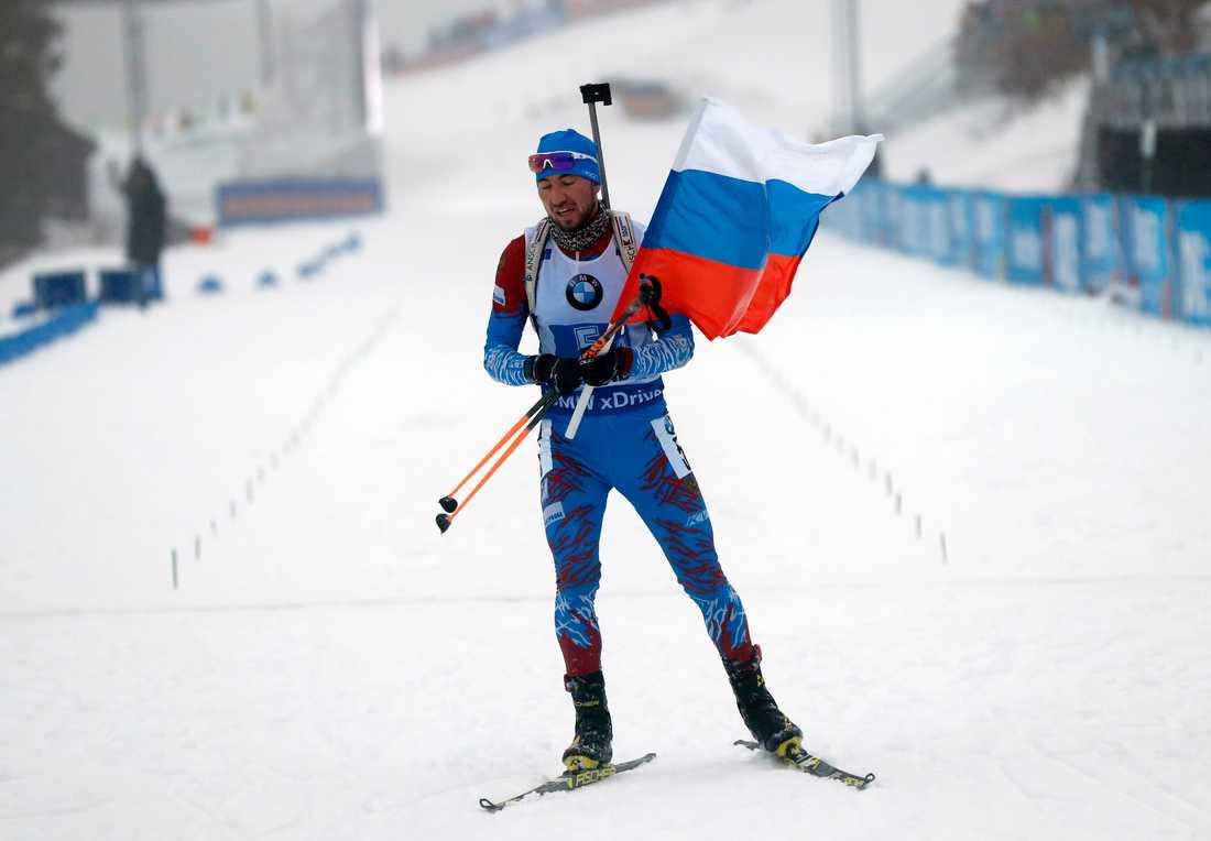 Rysslands Alexander Loginov i skidskytte.