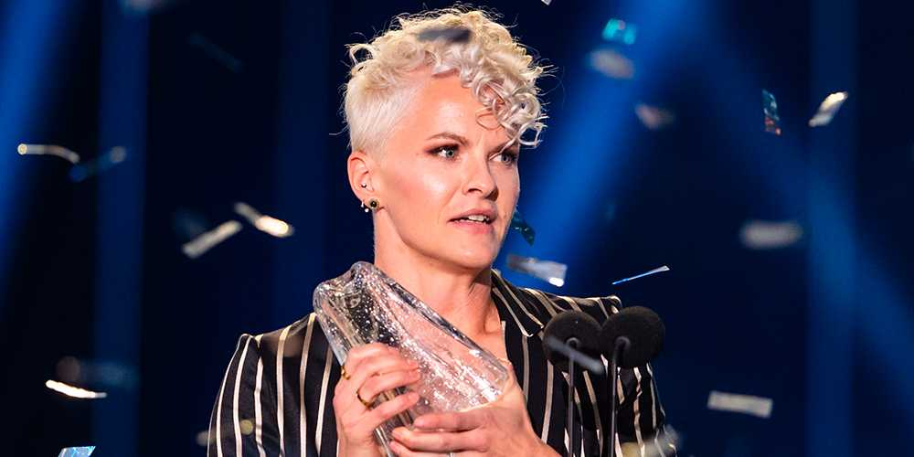 Nilla Fischer på Fotbollsgalan.