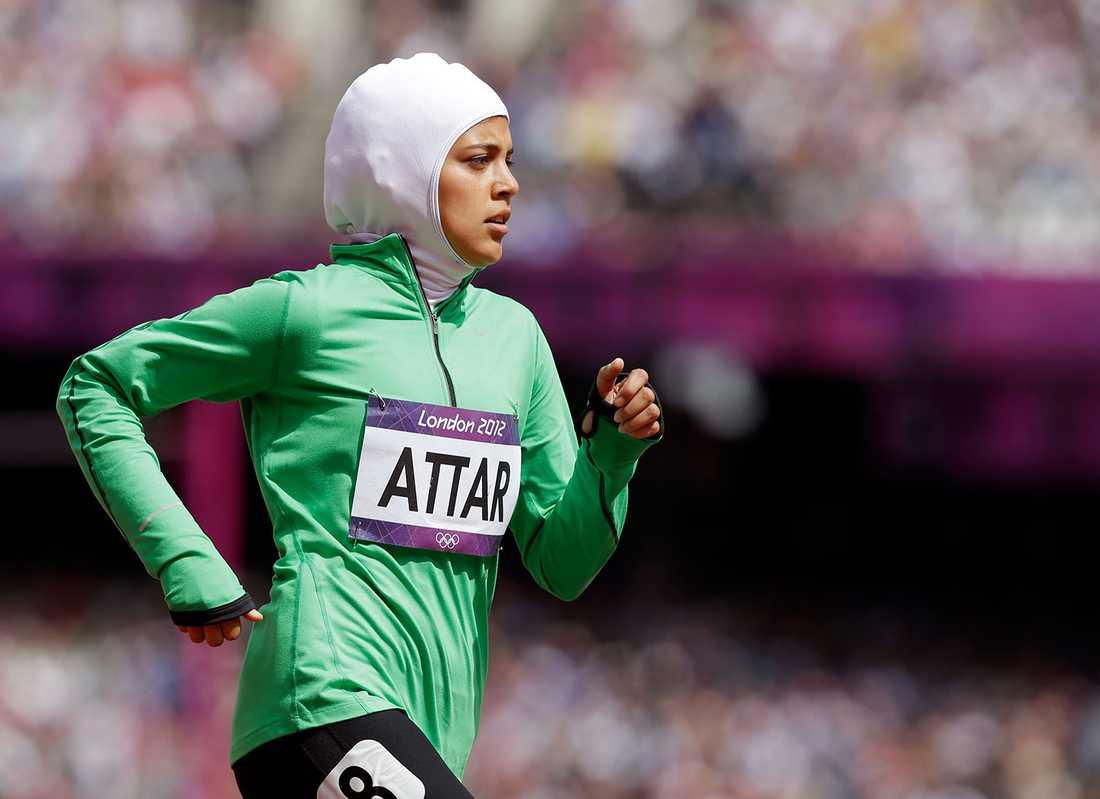 Sarah Attar tävlade för Saudiarabien under OS i London 2012.