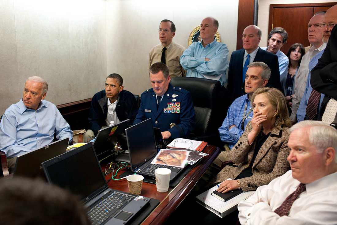 USA:s president Barack Obama och hans stab följde raiden i realtid.