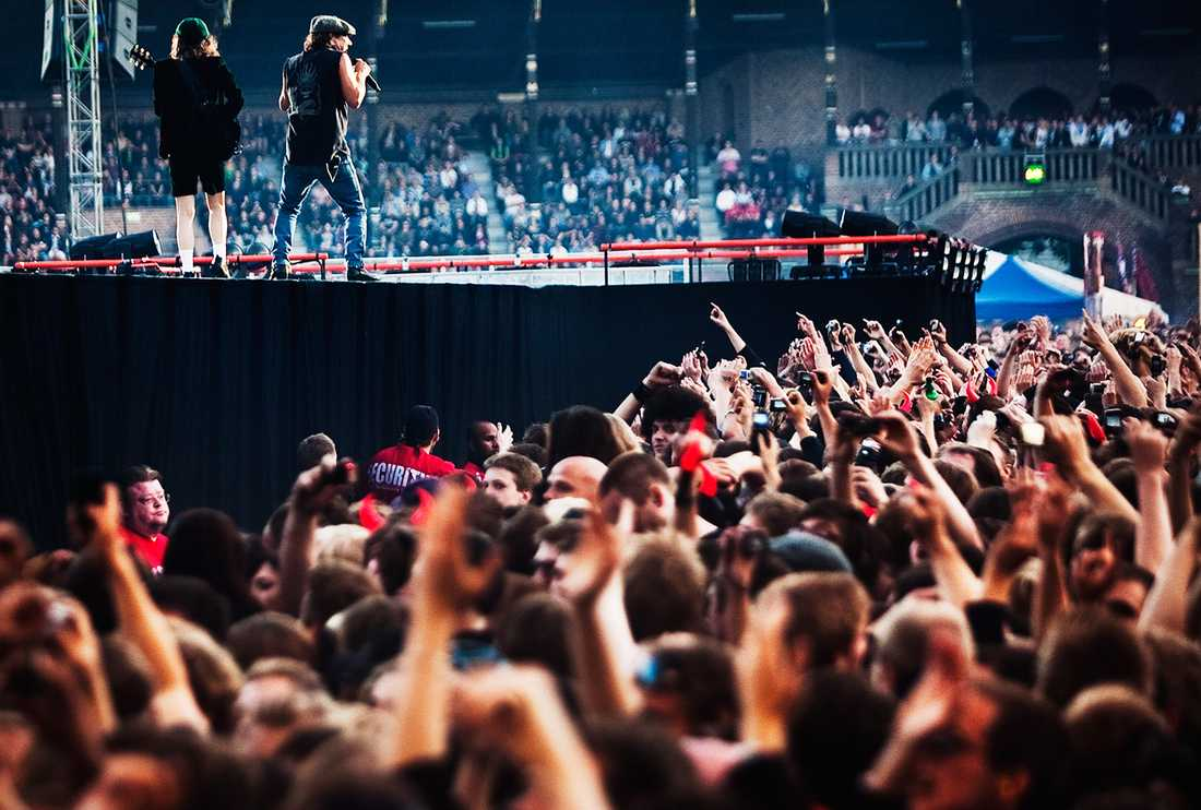 AC/DC på Stadion i Stockholm 2010.