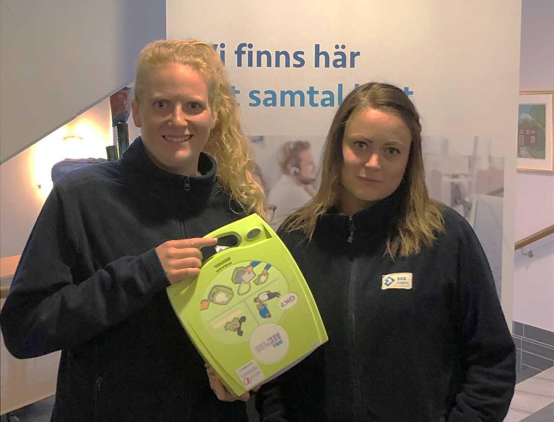 SOS-operatörerna Lovisa och Matilda blev larmade av appen SMS-livräddare.