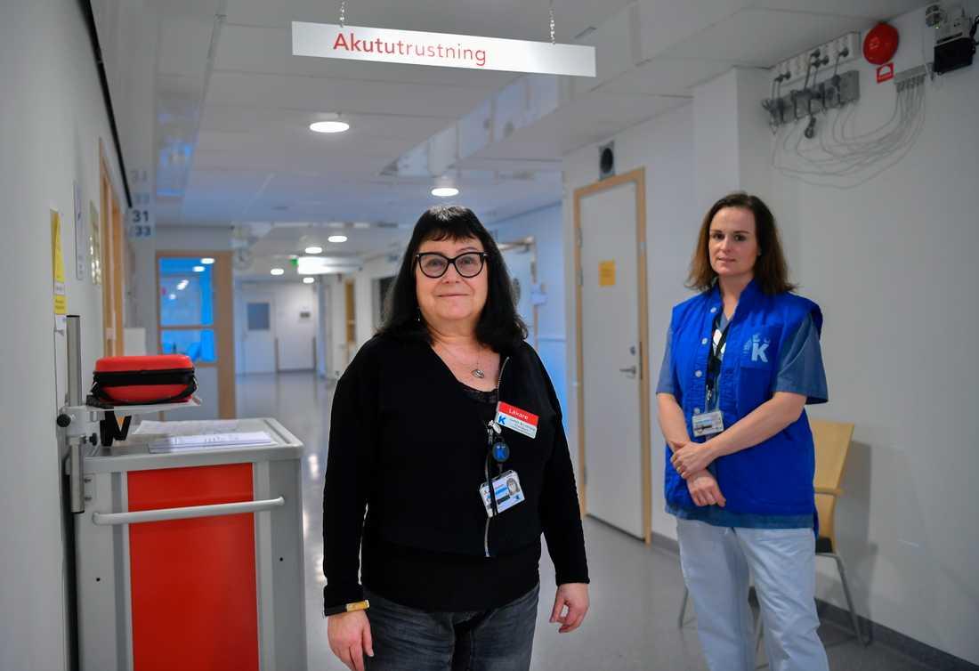 Judith Bruchfeld, docent vid Karolinska institutet och specialist i infektionssjukdomar, som leder mottagningen i Solna och Malin Nygren-Bonnier (th), lektor och fysioterapeut vid Karolinska universitetssjukhuset.