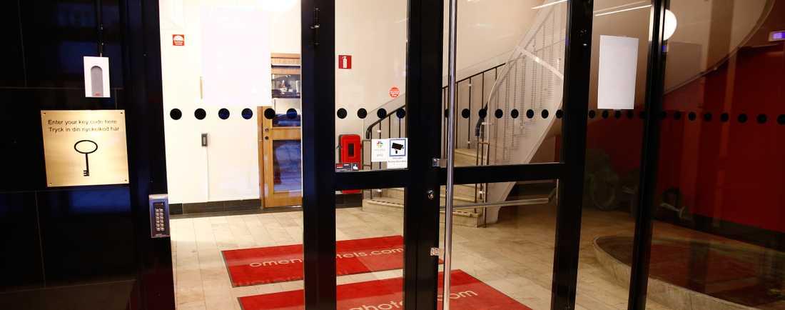 Lobbyn på hotellet där sexköpet ska ha ägt rum.