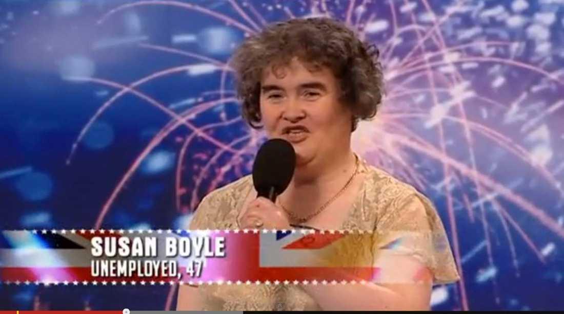 """Juryn i """"Britain's got talent"""" trodde inte sina öron när Susan Boyle äntrade scenen 2009."""