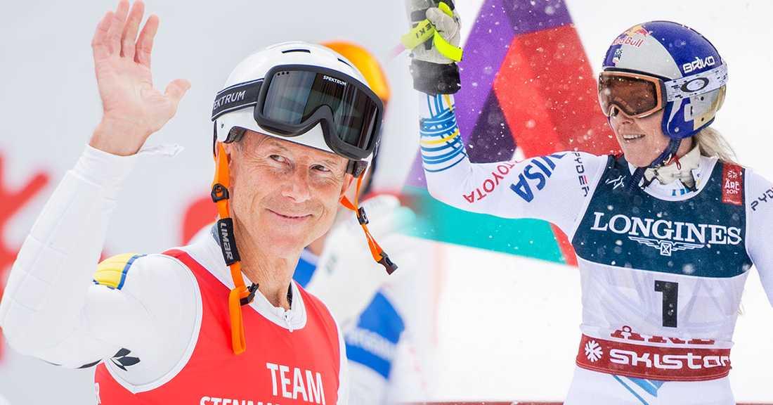 Lindsey Vonn kör VM med blågula inslag på dräkten – som en hyllning till Ingemar Stenmark och Sverige.