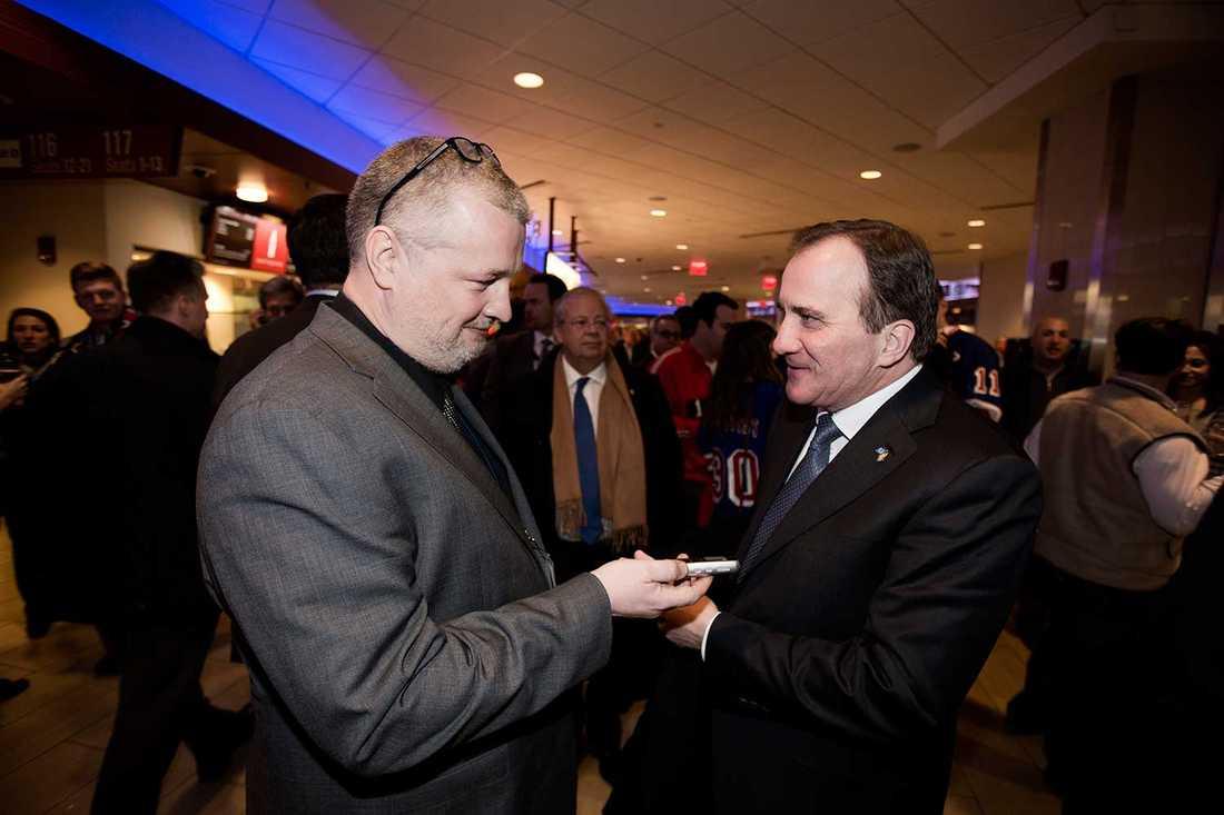 Aftonbladets Per Bjurman intervjuar Stefan Löfven i New York.