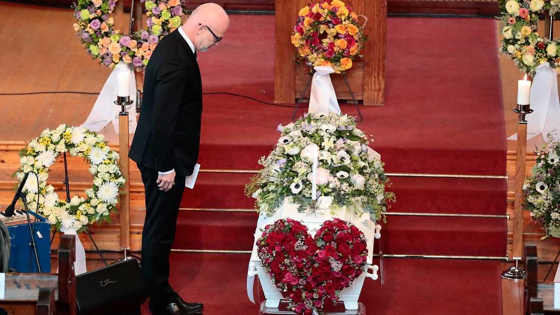 Jon Skolmens begravning i Oslo.