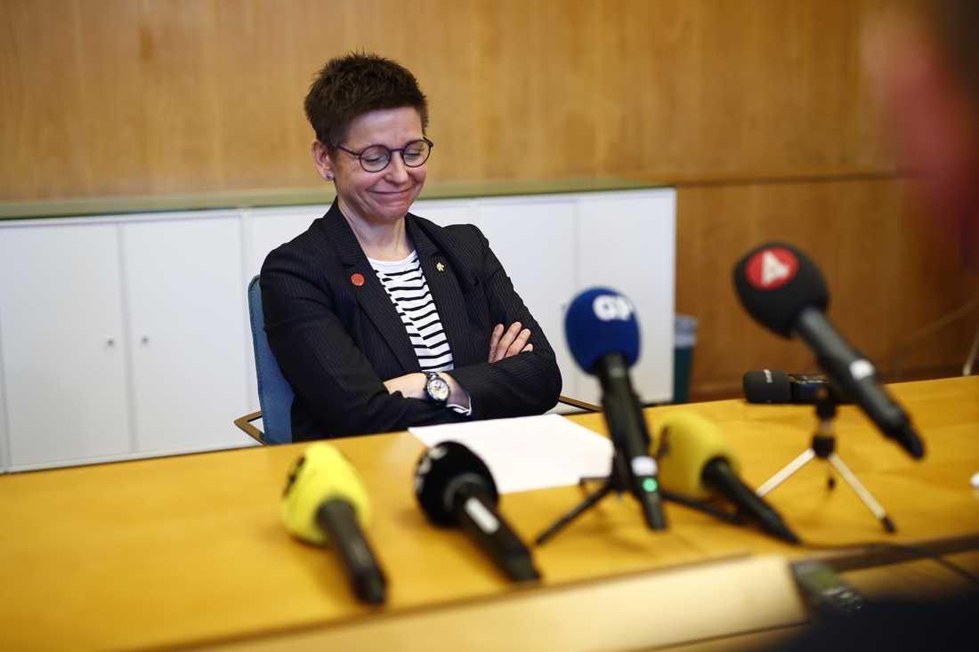 Ann-Sofie Hermansson (S) har avsatts av sin fullmäktigegrupp i Göteborg. Bild från i måndags.