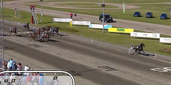 Rebecca Dahlén och Minnestads el Paso vinner V75-1 på nytt svenskt rekord.