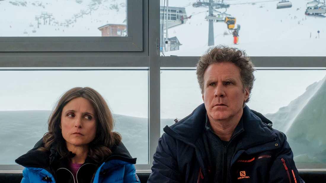"""Julia Louis-Dreyfus och Will Ferrell i """"Downhill"""". Arkivbild."""