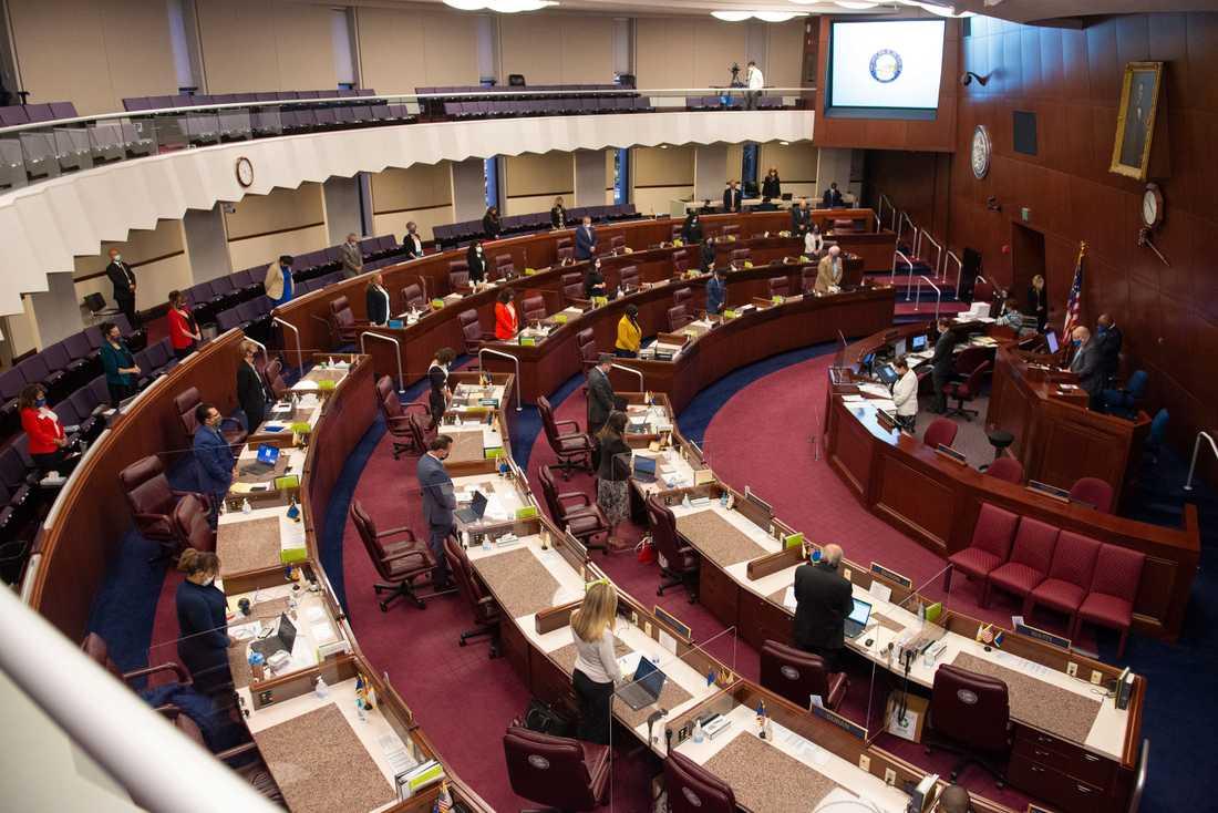 Nevadas underhus fortsätter att ha en majoritet kvinnor efter årets val. Bilden tagen i somras.
