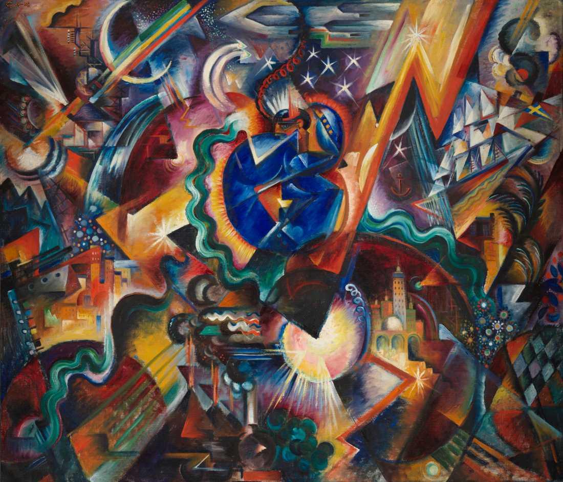"""""""Skapelsen"""", 1918, olja."""