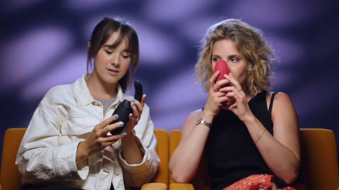 """Anna Dahlbäck och Amanda Colldén medverkar i minidokumentären """"Orgasmgarantin""""."""