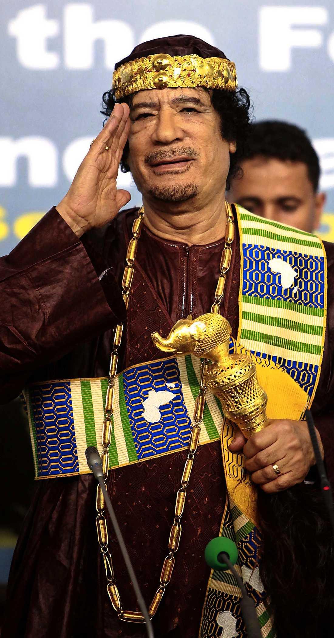 himmel Gaddafis fall.