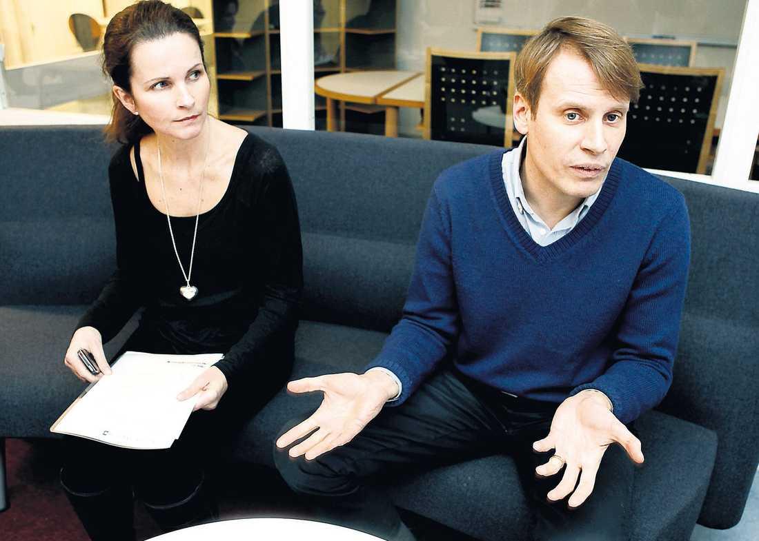 """Ingegerd Tronde och Magnus Karlsson Lamm på TV4 bemöter anklagelserna. """"Vi ser på röstningsförfarandet på det mest seriösa sätt"""", säger han."""