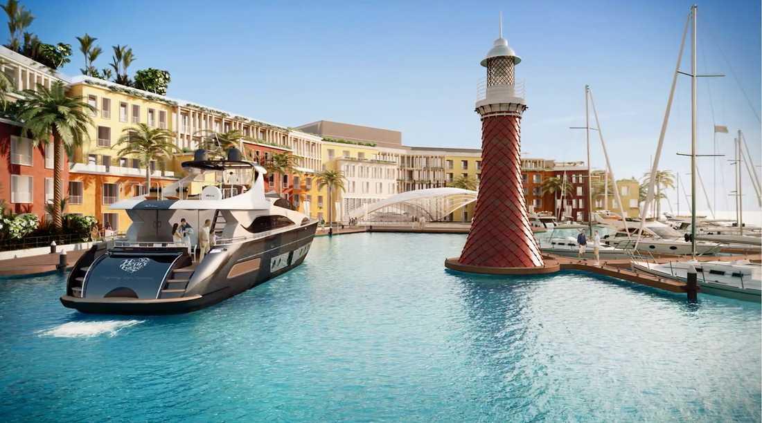Här byggs ett Europa - i Dubai. En av öarna kommer att vara inspirerad av Venedig.