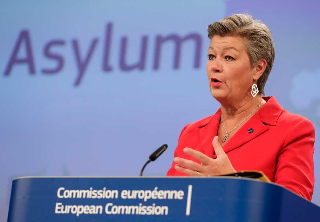 """""""Många av de som kommer hit är inte flyktingar"""", säger Ylva Johansson."""
