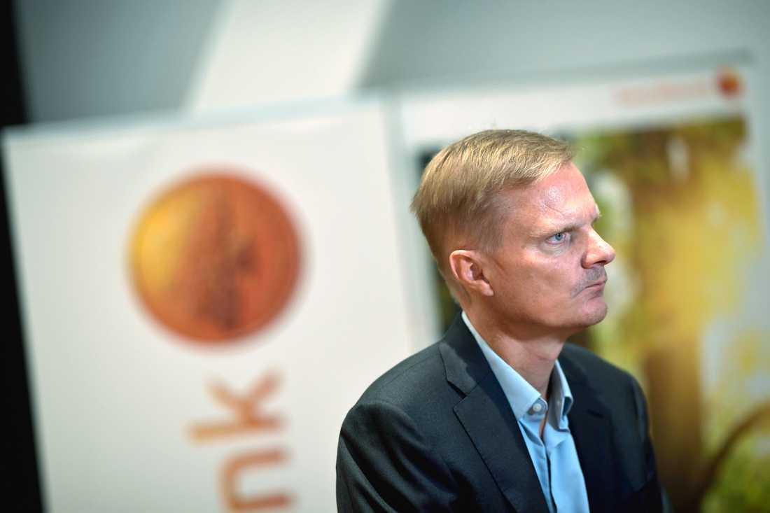 Swedbanks vd Jens Henriksson. Arkivbild.