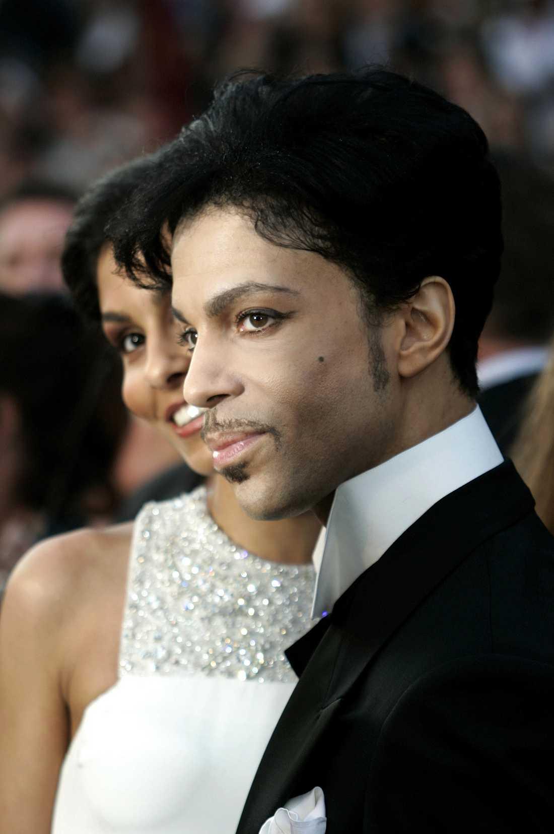 Prince med fru Manuela Testolini på Oscarsgalan 2005