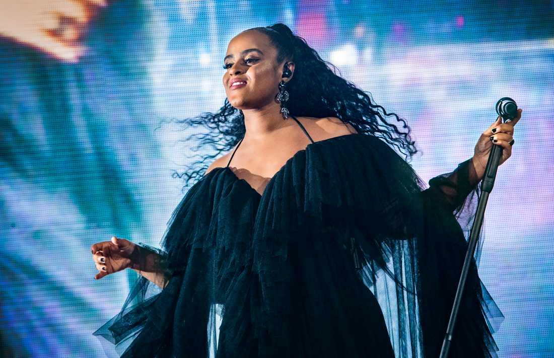 En utvald samling konserter presenteras också på SVT Scen, däribland Seinabo Seys firade konsert på Globen. Arkivbild.
