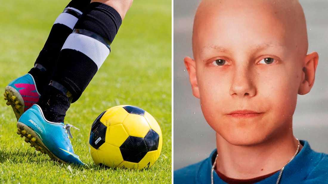 Erik fotbollsskada vägrade att läka. Då hittade läkarna till slut en tumör vid knäet –lika stor som en tennisboll.